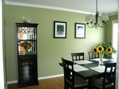 43 Inspirierend Zierleisten Wandgestaltung Green Dining Room Dining Room Colors Dining Room Small