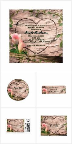 Rustic Pink Roses & Vines White Birch Collection