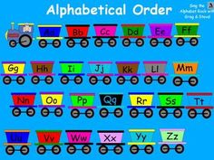 Students rearrange the train cars to put them pack in alphabetical order.Must have ActivInspire software to use:) This is just one page from my Aug...