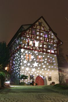 Merry Christmas!  The house of stars in Rheineck, Switzerland by Kecko, via Flickr