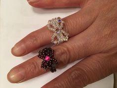 Bisuteria paso a paso Beaded Bead Estilo Pandora Beaded Jewelry Designs, Bead Jewellery, Jewelry Patterns, Handmade Jewelry, Beaded Anklets, Beaded Rings, Beaded Bracelets, Beaded Bead, Diy Rings