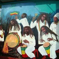 Binghi Ites Reggae Art, Reggae Style, Haile Selassie, Red Green Yellow, African Art, Dreads, Black Art, Roots, First Love