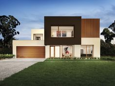 SORRENTO by Urbanedge - 4 beds, baths, 2 cars, square new home design Double Storey House, Floor Plan 4 Bedroom, Display Homes, Building A New Home, Australian Homes, New Home Designs, Facade House, Sorrento, Modern House Design