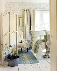A lovely little private dressing area makes the most of a bedroom. WordPress.com