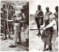 Fair exchange in Kenya, 1962. Photo by Robert Halmi. From LIFE Magazine.