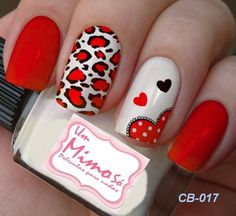 Red, cheetah, hearts bail design
