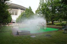 Mist at Saitama Stadium Park 埼玉スタジアム2002公園バスケットゴール