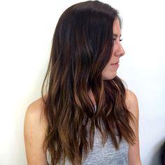 Brunette balayage // Long layers // HairXBrittany