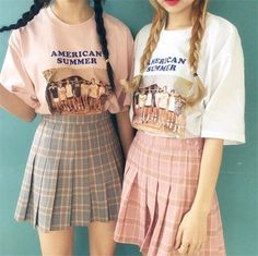Students grid pleated skirt YV16008