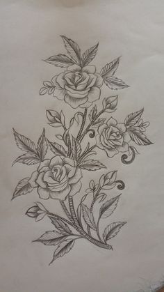 Flowers drawing Embroidery Embroidery free and - Mirror Ideas Hand Embroidery Patterns, Embroidery Art, Embroidery Stitches, Mirror Painting, Fabric Painting, Basic Sketching, Flower Tattoo Hand, Fabric Paint Designs, Pencil Design