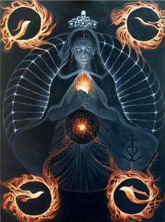 """Black Sarah by sami-edelstein. The ancient Kabbalists spoke of """"The Four SERAPHIM"""". The SERAPHIM are the four heavenly luminaries comprising the multiple or binary star system of which we belong."""