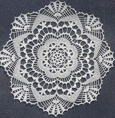 Vintage Crochet Pattern Cluny Lace Doily spider web tattoo cover up