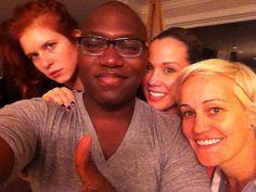 Magda Apanowicz, Omari Newton, Lexa Doig, and Luvia Petersen for the live tweet of Continuum Season 2, Episode 6 on June 2, 2013 (via @OmariAkilNewton on Twitter)