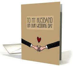 Be my Husband on our Wedding Day Gay card (1047529) by Corrie Kuipers at GreetingCardUniverse.com
