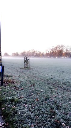 Friday 17th November 2017: frosty Friday on Mitcham Common this morning looks so pretty ❄️