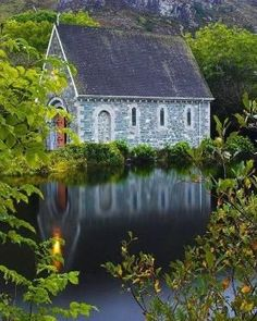 Small church at Gougane Barra in Cork County, Ireland.I want to go back to Ireland! Old Country Churches, Old Churches, The Places Youll Go, Places To Go, Beautiful World, Beautiful Places, Beautiful Buildings, Foto Picture, Take Me To Church