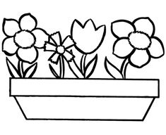 spring flowers coloring for kids spring coloring pages for kids