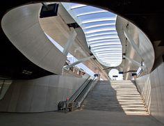 OV Terminal - Arnhem (NL)Architect: UN Studio  Opdrachtgever/Aannemer: Bouwcombinatie BAM & Ballast Nedam  Oplevering: 2012