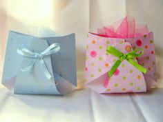 For game gifts instead of bags. Wrap with tissue, tie with tulle on top inside felt diaper