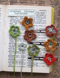 the adventures of bluegirlxo: artful thursdays #19....crochet flower tutorial
