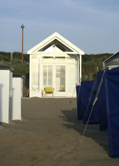 Beach house/Strandhuisje, Katwijk  - view from the beach