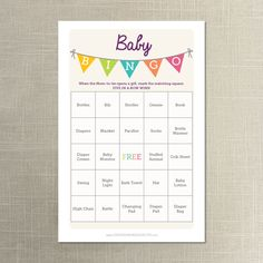 Instant Download  50 Baby Shower Bingo by CreativeUnionDesign, $5.00