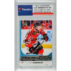 f5cce0fcdc5 Alex DeBrincat Chicago Blackhawks Fanatics Authentic Autographed 2017-18  Upper Deck Young Guns Rookie  221 Card with NHL Debut 10 5 17 Inscription