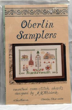 Counted Cross Stitch Chart Pattern Frankenmuth MI Oberlin Samplers #OberlinSamplers