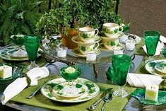 Beautiful Ivy Tablescape