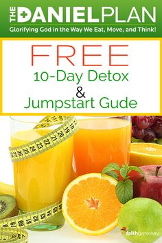 FREE 10-Day #DanielPlan Detox & Jumpstart Guide *10-Day Meal Plan for breakfast, lunch, dinner & snacks *Daniel Plan Detox do's and don'ts *Detox grocery shopping list *Before-and-after Detox health questionnaire *FREE recipes to get your started!