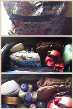Day 18: In My Bag #beannie #umbrella #mint #pouch #toiletries