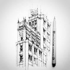 Cathedral Building, Oakland California --- detail sketch... | Flickr - Photo Sharing!