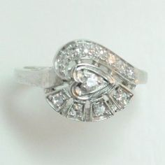 Lot # 9: Diamond Estate Diamond Ring.  *NO RESERVE* Gold Rush Pays Auction Rodeo: July 30th at 2pm EST
