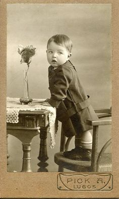 +~+~ Antique Photograph ~+~+  Adorable Boy 1914