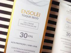 Protetor Solar Ensolei Toque Seco FPS 30 Profuse: controla a oleosidade e o brilho da pele, tem efeito mate, e é uma excelente opção para peles oleosas!