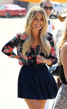 Lauren Conrad and William Tell at Polo | Pictures- I like this (not quite that pattern, but the style yes)