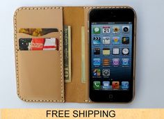 iPhone 5 / 5s Leather Wallet Case  iPhone Case   by FlyntLeather, $24.00
