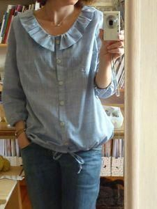 shirt refashion idea~this is adorable!men's shirt refashion idea~this is adorable! Blouse Volantée, Dress Shirt, Umgestaltete Shirts, No Sew Shirts, Mens Shirt And Tie, Diy Fashion No Sew, Sewing Blouses, Diy Vetement, Altered Couture
