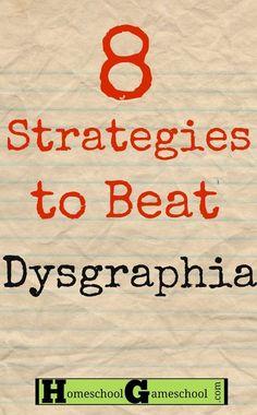 dysgraphia strategies