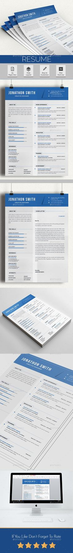 Buy Resume by Abd_Pixel on GraphicRiver. Resume/cv with Cover Letter Design Main Features with with Bleeds Very Well Organized Files Resume/C. Resume Words, Resume Cv, Resume Writing, Resume Design, Design Web, Best Resume Template, Cv Template, Cover Page Template, Cover Letter Design