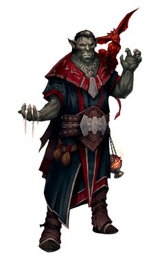 Image result for d&d half orc wizard