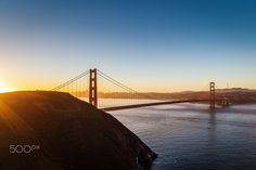 Morning in the City - Sunrise over the Golden Gate Bridge