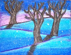 oil pastel   Wilder Paint Splatters