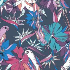 Psychedelic Floral Illustrations.  Nadia Flower's Exquisite Artwork is An Explosion of Color. New Zealand-based Nadia Flower's illustrations are a visual explosion of color, beauty and nature.