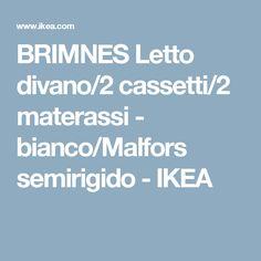 BRIMNES Letto divano/2 cassetti/2 materassi - bianco/Malfors semirigido - IKEA