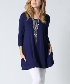 Another great find on #zulily! Navy Pocket Tunic #zulilyfinds