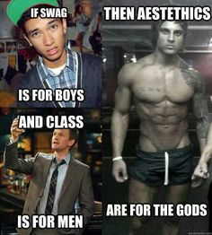 If Swag is or boys, class for men then aesthetics is for the Gods. Workout Memes, Gym Memes, Fitness Memes, Workouts, What Is Internet, Beauty Magic, Workout Pictures, Aesthetic Fashion, Aesthetic Style