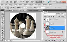how to make cd labels in photoshop