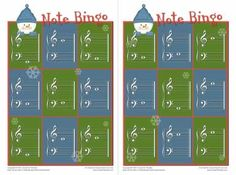 Christmas Note Bingo Just in time for your holiday piano parties, I am posting a Christmas bingo game. This game features a snowman, so you can play it after Christmas, too. I like note bingo games…