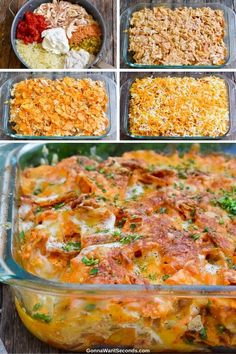 *NEW* Dorito chicken casserole recipe is where tender rotisserie chicken meets cheesy snack food crunch for a unique dinner treat! Dorito chicken casserole recipe is where tender rotisserie chicken meets cheesy snack food crunch for a unique dinner treat! Lunch Recipes, Easy Dinner Recipes, New Recipes, Crockpot Recipes, Chicken Recipes, Vegetarian Recipes, Easy Meals, Healthy Recipes, Chicken Dips